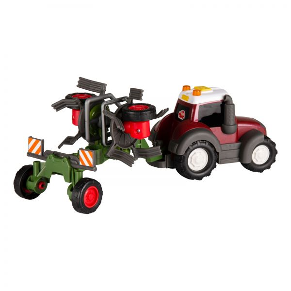 Toy tractor with tedder - Happy Valtra