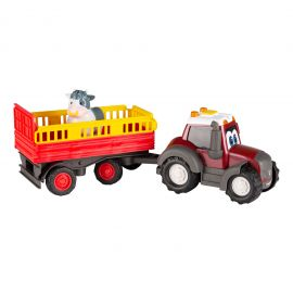 Toy tractor with animal trailer - Happy Valtra